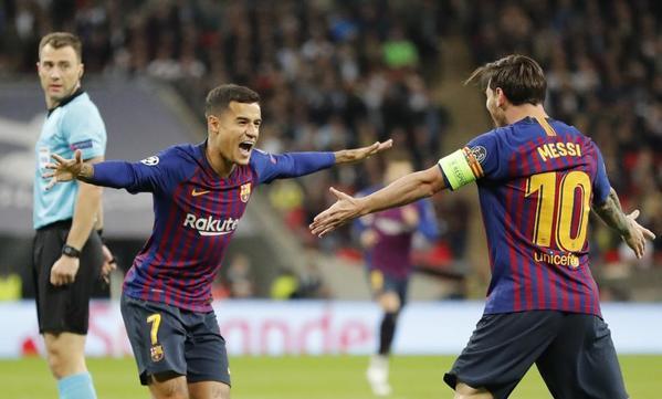 Coutinho ha abierto la lata en Wembley tras una magnífica jugada del Barcelona