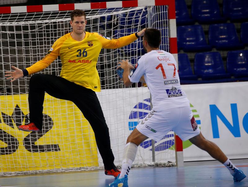 Kevin Möller, en el partido contra el Veszprem