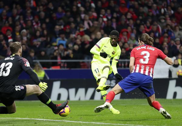 Así ha sido el gol de Dembélé FOTO: AP