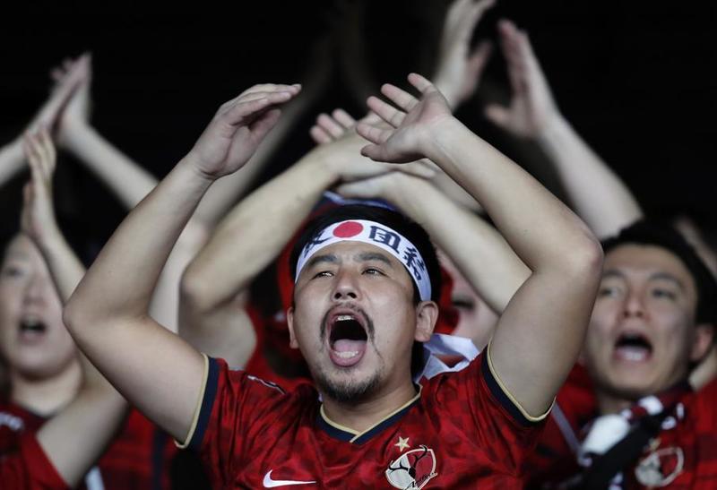 Los seguidores nipones, muy ruidosos en la previa de este partido