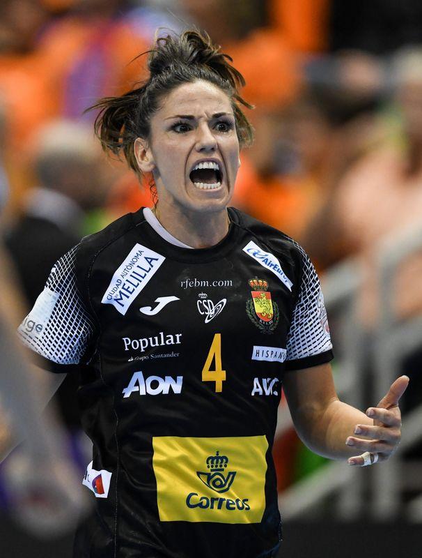 Carmen Martín, extremo de la selección española