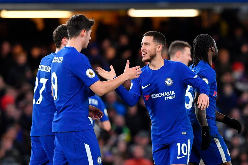 Morata felicita a Hazard tras el 3-0 FOTO: ChelseaFC