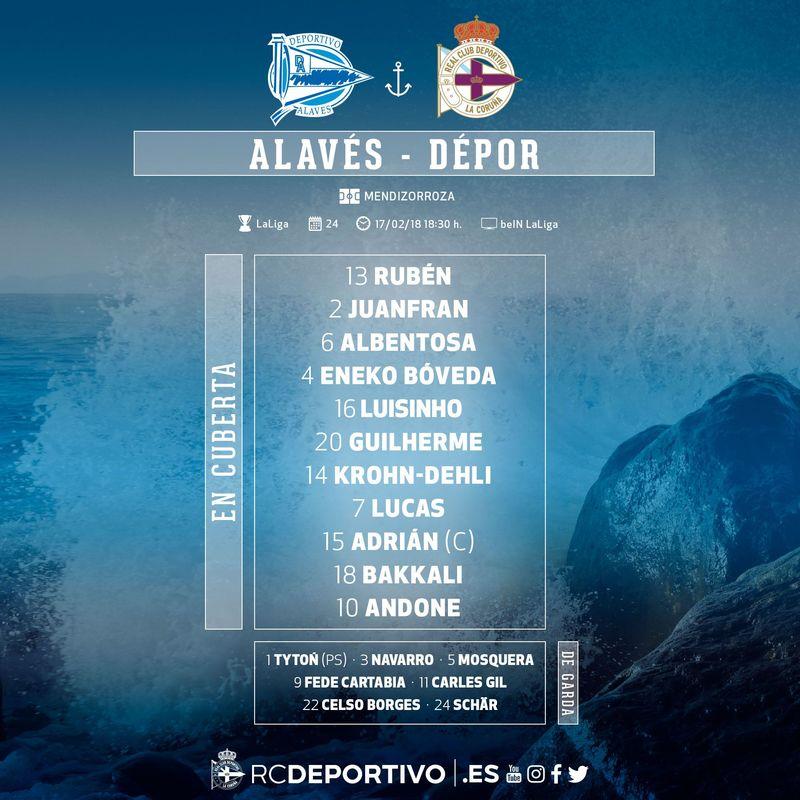 El once del Deportivo | @RCDeportivo