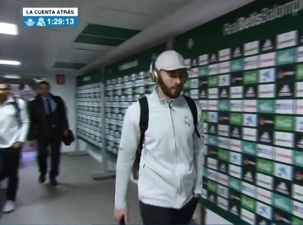 Benzema, suplente ante el Real Betis. Su puesto en ataque lo ocupará Gareth Bale