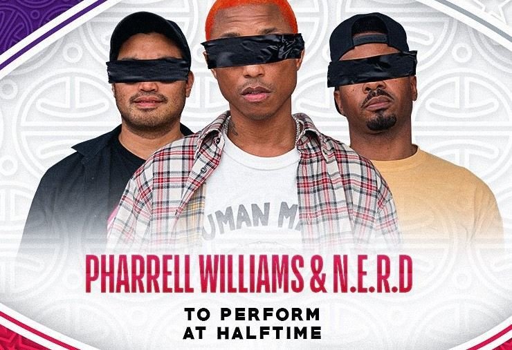 Pharrell Williams & N.E.R.D, actuación estrella en el descanso del NBA All Star Game