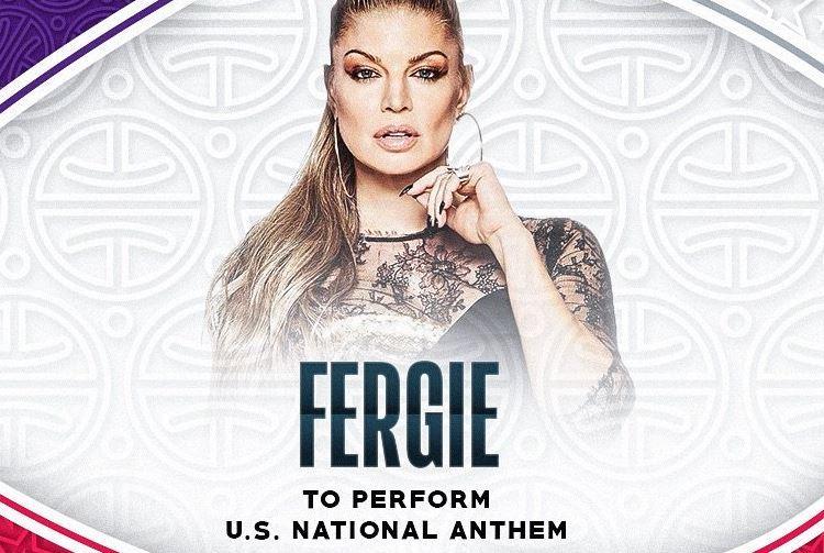 La cantante Fergie ha interpretado el himno de Estados Unidos