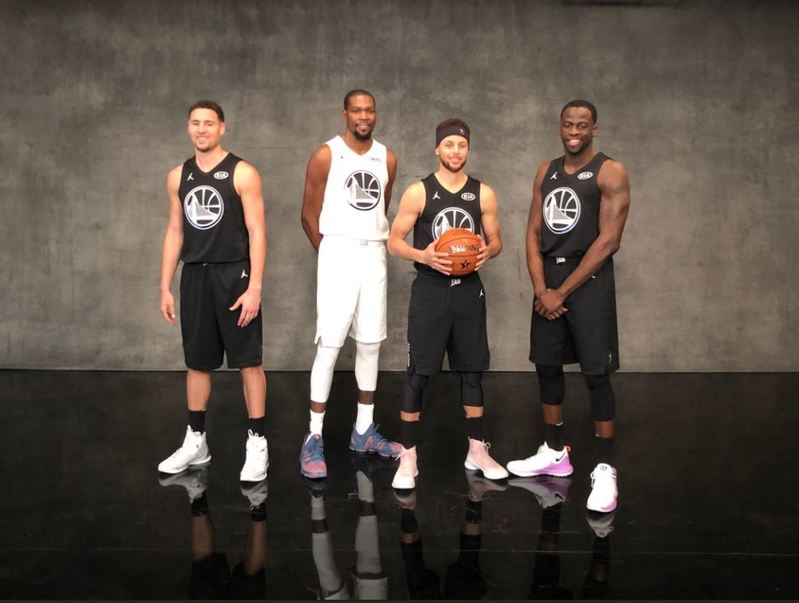 Los representantes de los Warriors en el NBA All Star Game