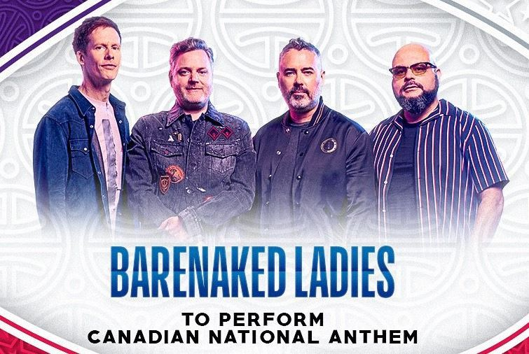 Barenaked Ladies han interpretado el himno de Canadá