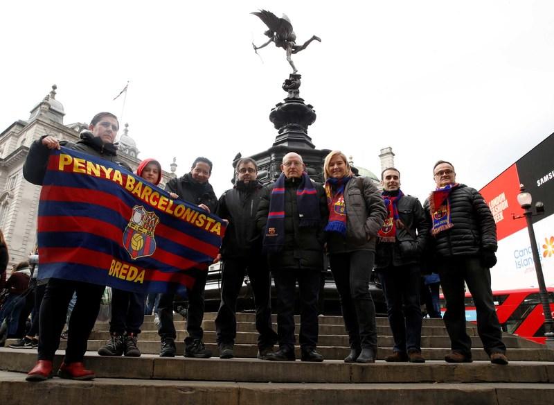 Cerca de 2.000 aficionados del Barça apoyarán hoy al equipo en Stamford Bridge FOTO: PEP MORATA