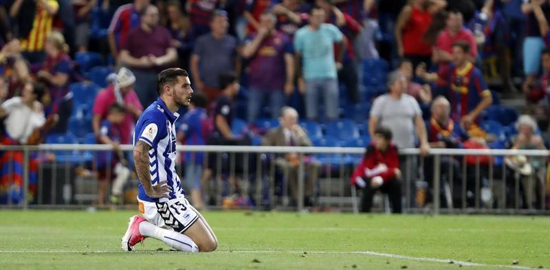 Theo Hernández durante la final de Copa del Rey con el Alavés
