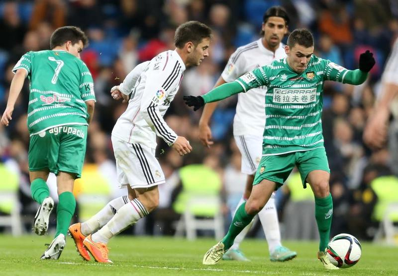Álvaro Medrán con la camiseta del Real Madrid