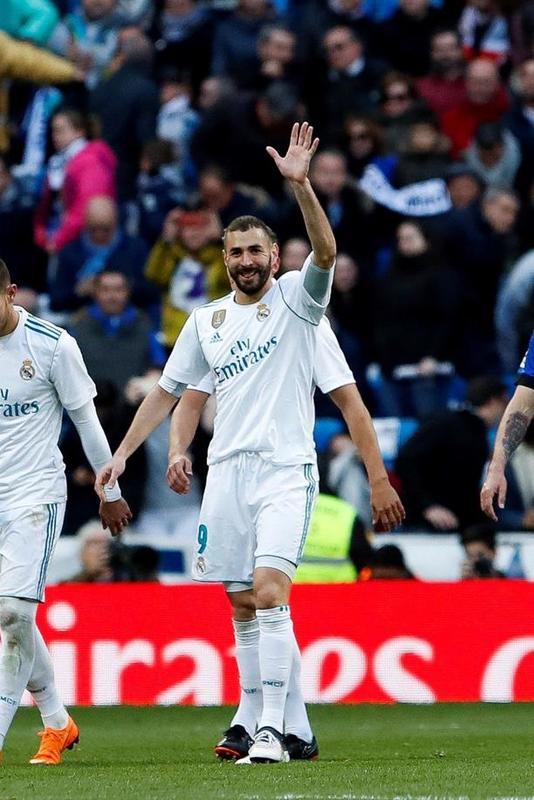 Benzema vuelve a marcar en Liga tras el partido del Villamarín