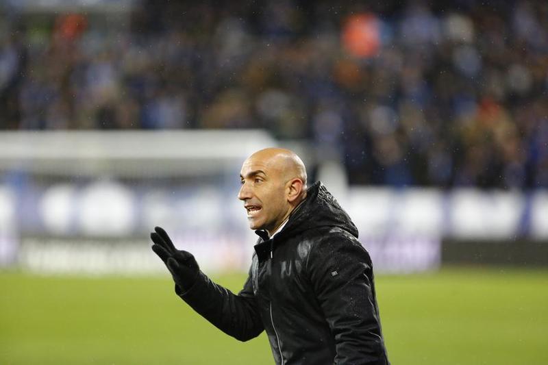 Abelardo durante el último partido