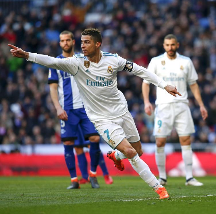 Imagen del segundo gol de Cristiano