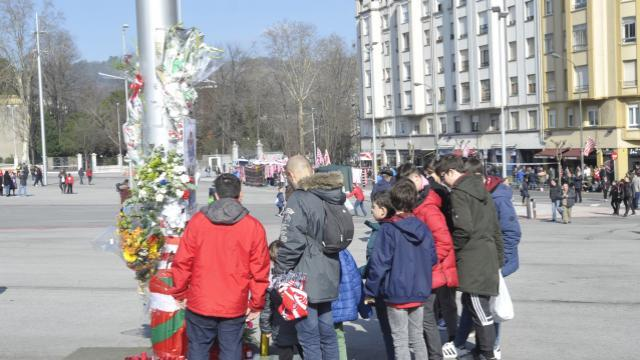 Aquí los pequeños homenajes en San Mamés / @LaLiga