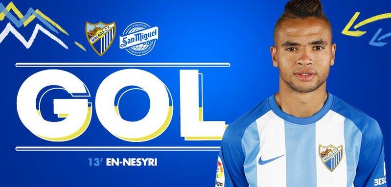 En-Nesyri hizo el 0-1 / @MalagaCF