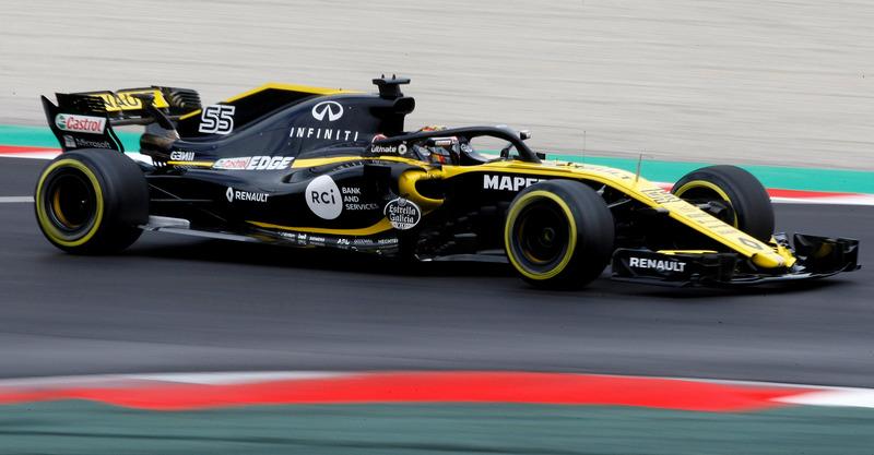 El Renault de Carlos Sainz también ha sido protagonista en esta segunda jornada de test de Fórmula 1