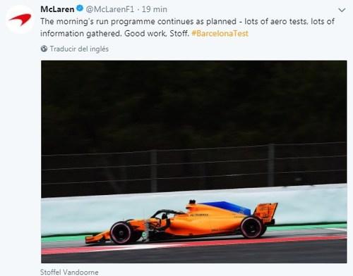 En McLaren están satisfechos con el trabajo aerodinámico
