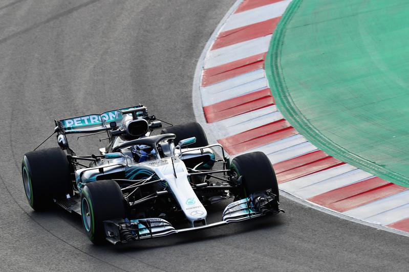 Bottas, en plena sesión del test de F1 de hoy en Montmeló - FOTO: GETTY