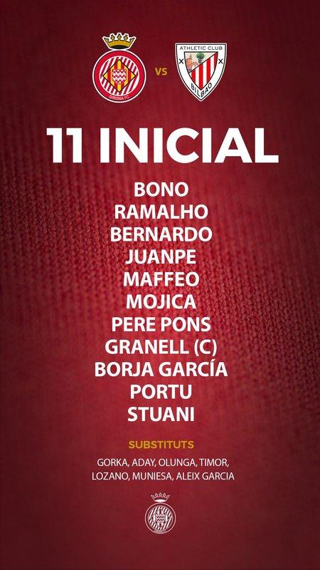 Once del Girona / @GironaFC