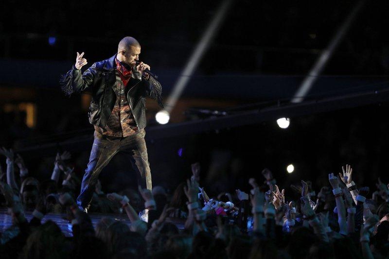 Timberlake, en plena actuación (FOTO:EFE)