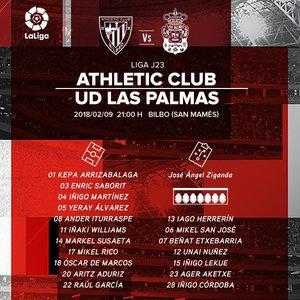 Once del Athletic frente a Las Palmas   @AthleticClub