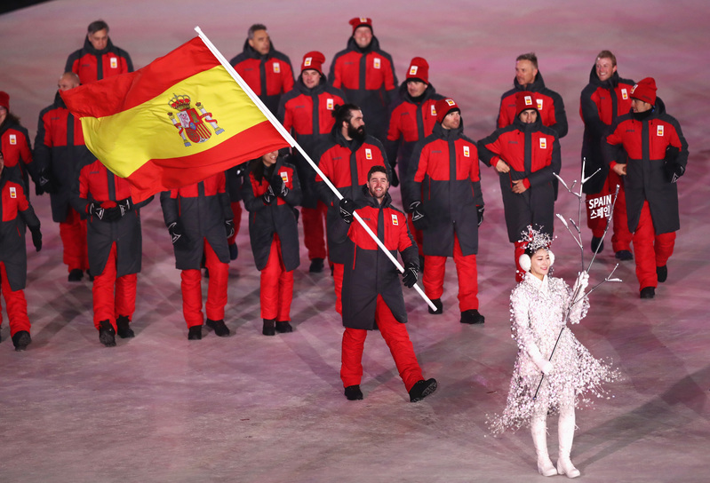 Así ha desfilado el equipo español en la ceremonia de apertura de los Juegos, comandado por Lucas Eguibar (Getty)