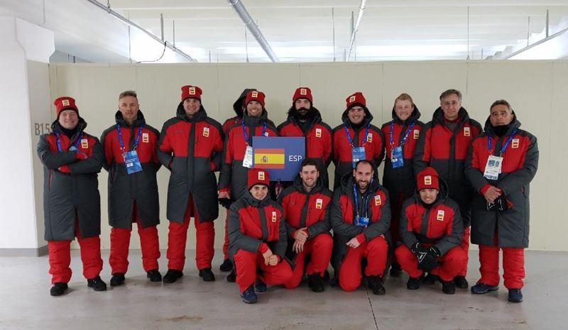 El equipo español, preparado para desfilar en PyeongChang (COE)