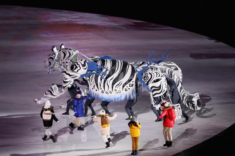 La cultura coreana, protagonista en la parte inicial de la ceremonia (Getty)