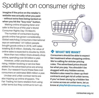 World Consumer Rights Day 2018 - Making digital marketplaces fairer ...
