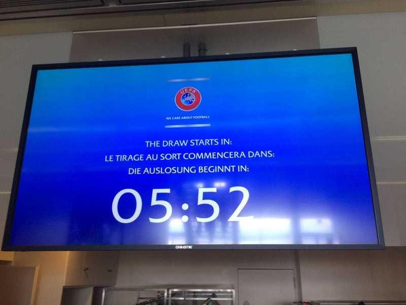 La pantalla con la cuenta atrás para el inicio del sorteo.