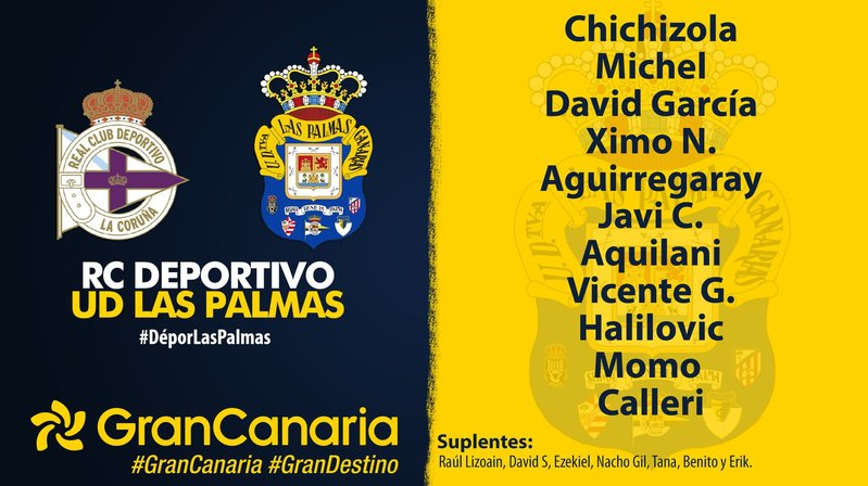 Once de Paco Jémez en Las Palmas    @UDLP_Oficial