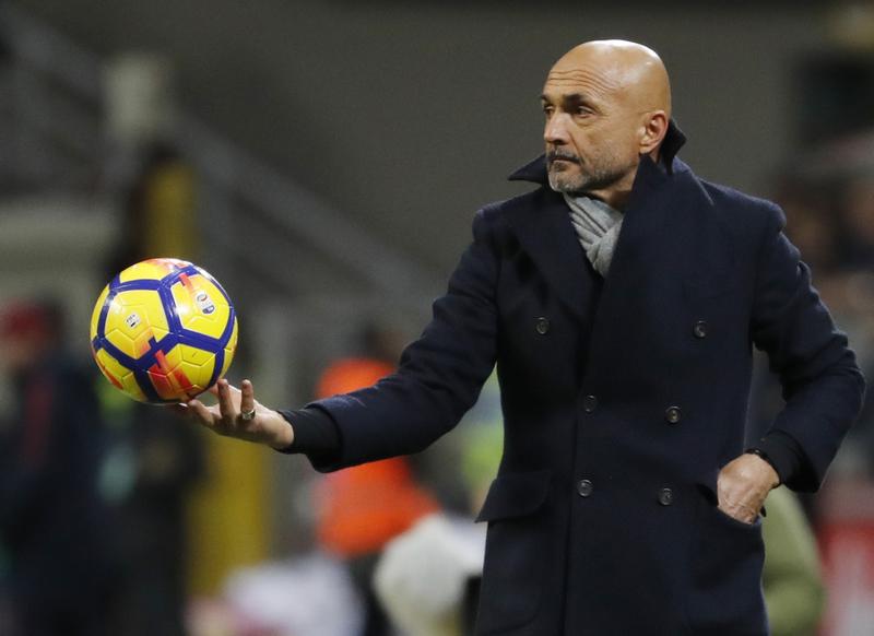 Spalletti, durante un partido del Inter