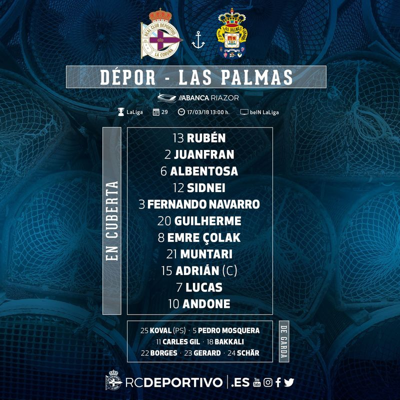 Once del Deportivo    @RCDeportivo