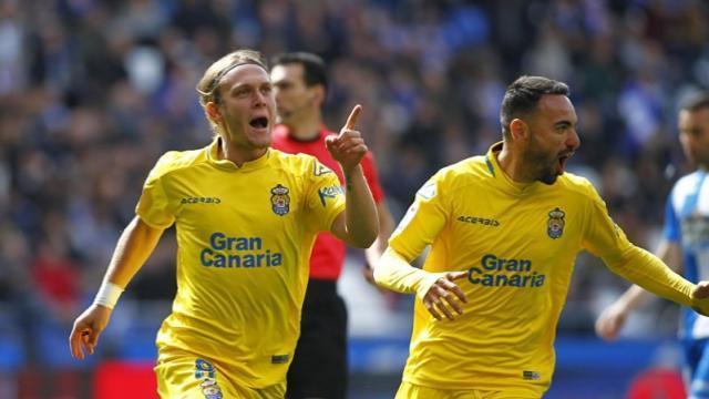 Halilovic celebra el primer tanto del partido    LFP