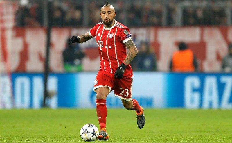 Arturo Vidal, durante un partido con el Bayern