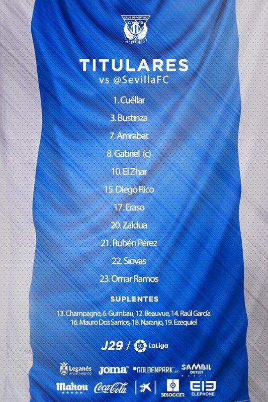 Once del Leganés || @CDLeganes
