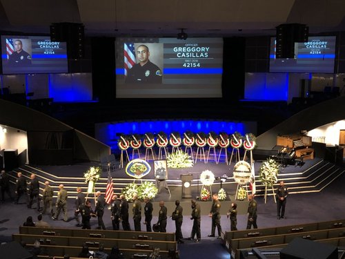 Funeral & procession for fallen Pomona police officer
