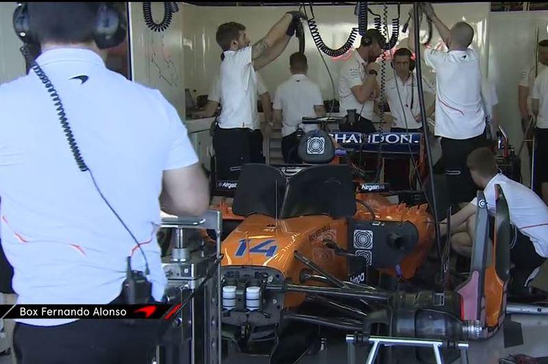 El coche de Alonso