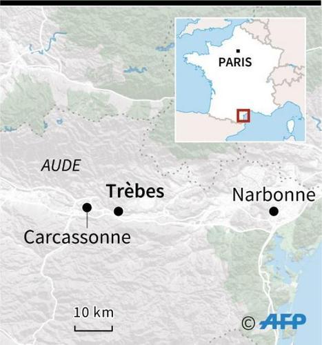 Aude : une prise d'otages dans un supermarché. Un policier blessé par balles