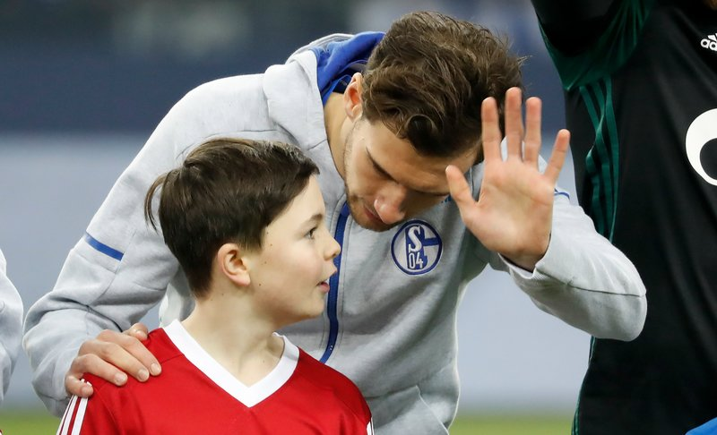 Goretzka, en los prolegómenos de un partido con el Schalke