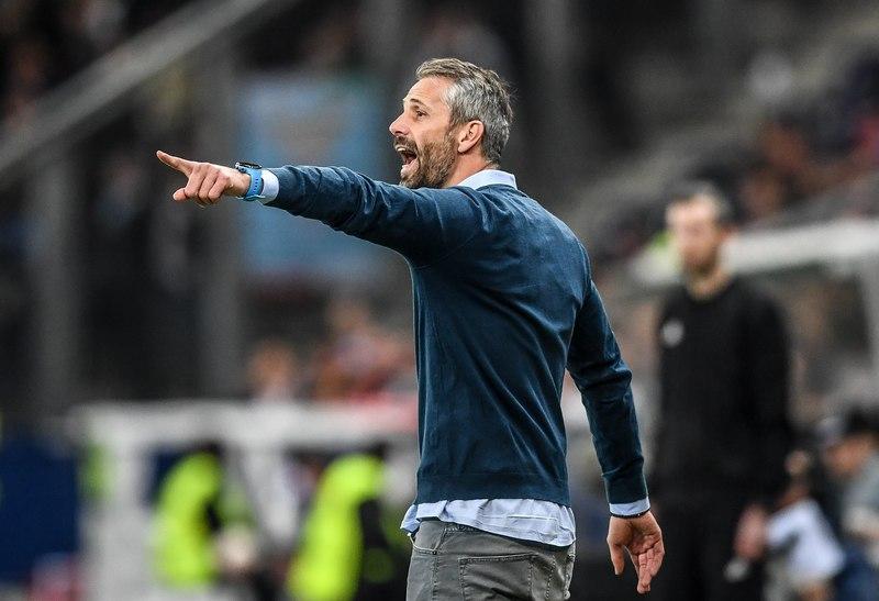 Marco Rose entrena al Salzburgo, una de las revelaciones de la Europa League