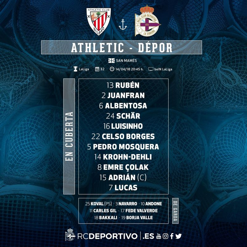 Once del Deportivo. @RCDeportivo