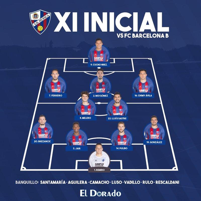 Y el del Huesca, en el twitter del club aragonés