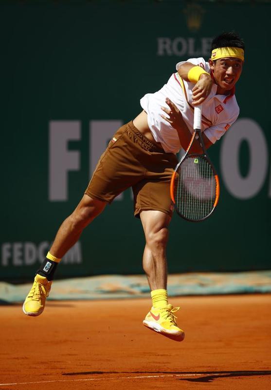 Kei Nishikori, en su primera final en Montecarlo, por la duodécima de Nadal FOTO: GETTY