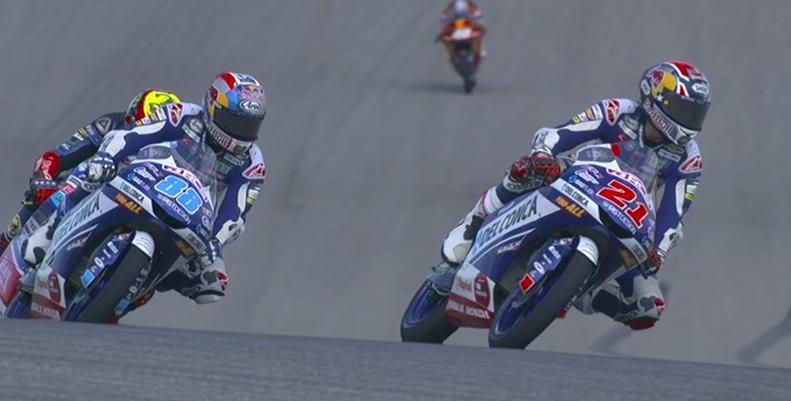 La pugna por los primeros puestos está preciosa en Moto3