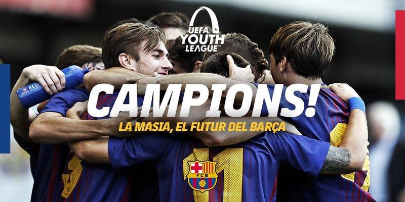 El FC Barcelona felicita a su juvenil