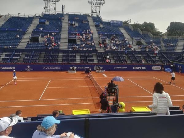 Partido de la Pista Rafa Nadal entre Benoit Paire y Nico Jarry.