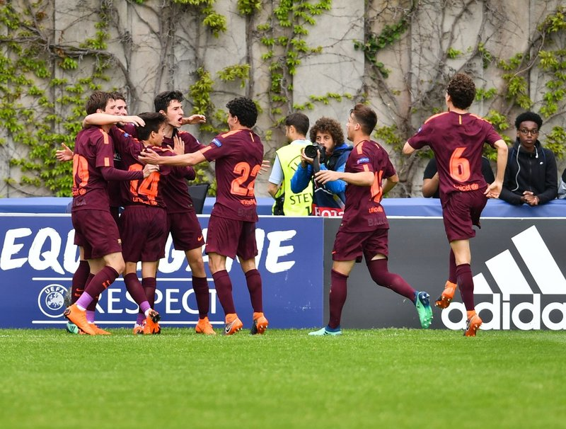 La alegría de marcar un gol en la final de la Youth League