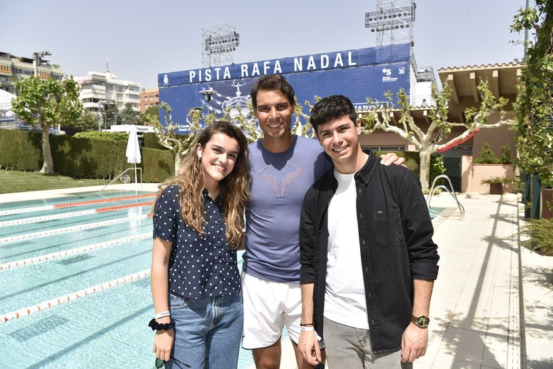 Amaia Romero y Alfred García, representantes de España en Eurovisión han compartido un rato con Rafael Nadal Foto: rtveEurovisión